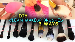how to clean makeup brushes beauty blenders 3 ways diy makeup brush cleaners you