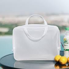 <b>White Waterproof Mesh Swimming</b> Bags For Girls Sac Zip Lock ...
