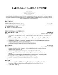 paralegal resume template word legal assistant sample free entry level  objective for . paralegal resume ...
