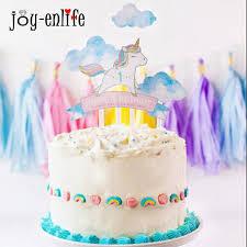 Joy Enlife Cartoon Unicorn 1 Birthday Cake Topper Happy Baby Shower