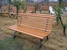 Park bench park outdoor wood chair Benches Square mall seat 7075 in