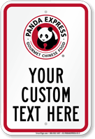 Panda Express Parking Signs