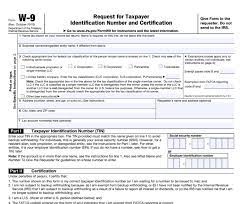 what is irs form w 9