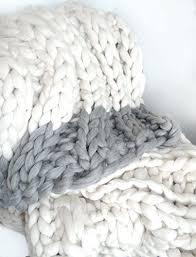 chunky knit throw blanket australia giant knitting super merino hand