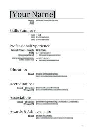 Basic Resume Format Examples Wlcolombia
