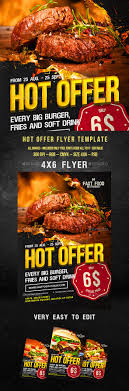food flyer creative restaurant and beef hot offer flyer restaurant design tempalte graphicriver net