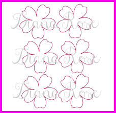 Printable Rose Flower Template Download Them Or Print
