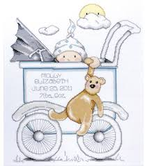 Cross Stitch Birth Announcement Patterns Free Magnificent Decorating Design