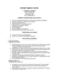 ... Stupendous Targeted Resume 11 What Type Of ResumeCV You Need ...