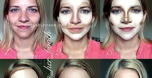makeup contouring with contour and highlight makeup