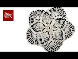 crochet lace pineapple tablecloth part 4 tutorial