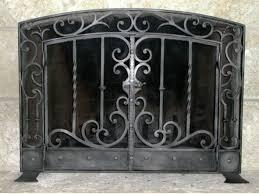 iron fireplace screen. Iron Fireplace Screen Black
