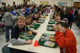 elementary school cafeteria. Most Of The Students At Highland Creek Elementary Buy Lunch Cafeteria, But A Good Number Also Bring Food From Home. School Cafeteria