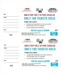 Fundraiser Tickets Template Free Sample Business Lottery Ticket