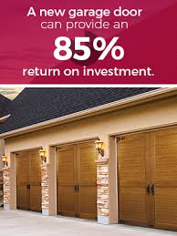 new garage door can provide 85 return on investment