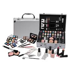 vanity case beauty cosmetic set travel make up box train holder storage 58 piece