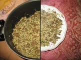 baachsh   traditional bochari rice  meat and coriander dish