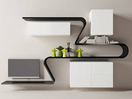 Small Picture Modern And Unique Wall Shelves Design For Living Rooms Modern Wall
