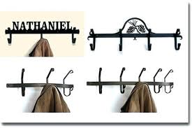 Wrought Iron Wall Coat Rack Gorgeous Wall Mounted Coat Rack With Hooks Wrought Iron Coat Rack Wall