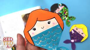 mermaid bookmark corner diy how to make a corner bookmark mermaid mermaid diy ideas red ted art