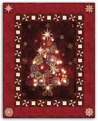 134 best CHRISTMAS | Joy to Make images on Pinterest | Appliques ... & Red - Midnight & Bright Lights Starlight Christmas Wallhanging Quilt Kit by  Aspen Peak Designs Adamdwight.com