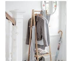 bamboo half size clothes rail ex argos
