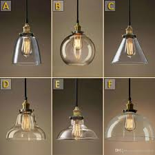 industrial pendant light shade clear glass pendant lights for kitchen industrial pendant shade vintage style pendant lighting industrial bulb pendant