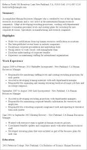 Hr Manager Resume Template Best of Human Resources Manager Resume Template Best Design Tips