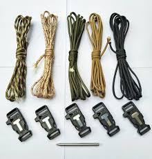 diy solid color paracord bracelet set can make 5 bracelets with firestarter buckle with