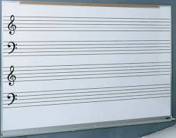 Music Staff Lines And Ruled White Boards