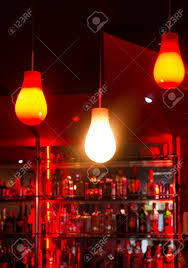 Red Light Night Lamp Lamps In A Night Bar Red Lights