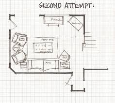 ... Second Floor Plan Living Room Experimenting With Furniture Layouts  Small Sectionals For Small ...