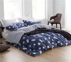 Best 25+ Navy blue comforter sets ideas on Pinterest | Navy blue ... & Daisy Mae Twin XL Comforter - Features white daisies with yellow center on  navy blue backdrop Adamdwight.com