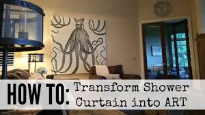 on pictures into wall art with how to create shower curtain art youtube