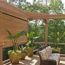 outdoor roll up shade bamboo window