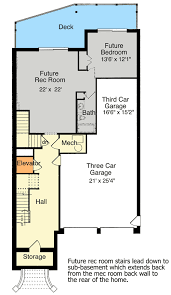 Unique Three Story Home Plan  39142ST  Architectural Designs Three Story Floor Plans