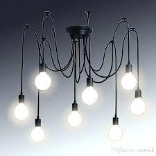 pendant light wiring retro classic chandelier spider lamp pendant bulb holder group lighting lamps lanterns accessories