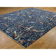 9 2 x11 7 tree of life peshawar birds of paradise hand knotted oriental rug
