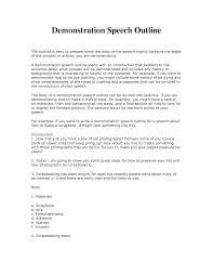 Demonstration Speech Outline Demonstrative Speech Outline Template Google Search School