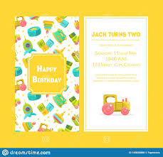 Boys Birthday Party Invitations Templates Happy Birthday Greeting Card Yellow Party Invitation