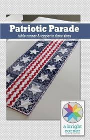 Patriotic Quilt Designs and Projects for the Fourth of July! & Patriotic parade table runner and topper pattern Adamdwight.com