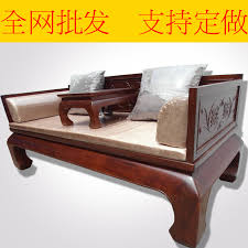 chinese wood furniture rohan rohan bed couch hollow solid wood sofa bed couch pit