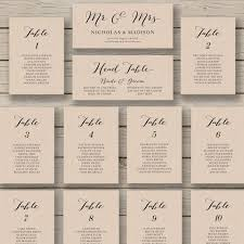 Party Seating Chart Template Wedding Seating Chart Template Printable By