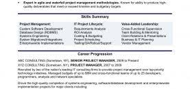 Experienced It Project Manager Resume Sample Monster Com Templates For S