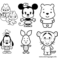 Small Picture Disney Cuties Tsum Tsum Kids Coloring Pages Printable