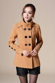 free new hot women celebrity slim wool double ted short trench coat