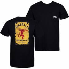 Details About Fireball Cinnamon Whiskey Pocket Tee Shirt Black