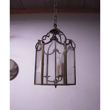 a huge french antique bronze hanging 3 light hall lantern fixture europe antiques collectibles and decorations ruby lane