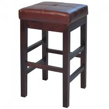valencia backless leather counter stool cognac for