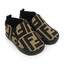 Fendi Size Chart Shoes Fendi Baby Brown Ff Logo Pre Walkers Fendi Shoes Top